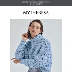 [mytheresa] Now trending   Knitwear in pastel shades + limited time free shipping