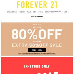 [FOREVER 21] STORE ONLY SALE!!!
