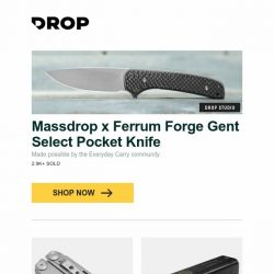 [Massdrop] Massdrop x Ferrum Forge Gent Select Pocket Knife, Nextool Flagship 16-in-1 Pro Multi-Tool, Nitecore TM10K Tiny Monster 10,000-Lumen Flashlight and more...