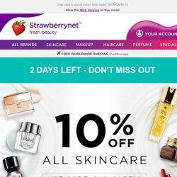 [StrawberryNet] 📣Don't miss out on Skincare 10% off