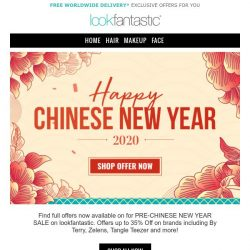 [lookfantastic] CHINESE NEW YEAR SALE | 35% Off NuFACE, By Terry and more inside...