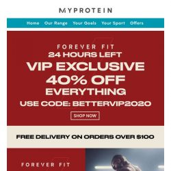 [MyProtein] More Gains With VIP Exclusive 40% Off! 😊