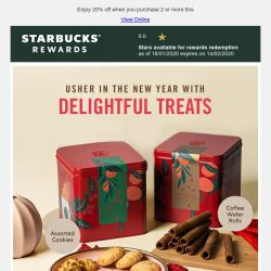 [Starbucks] Festive treats perfect for the Lunar New Year