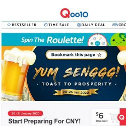 [Qoo10] Cheers to 2020! Give a prosperity toast with Jinro Korean Soju, Australia Moscato and more! 🥂