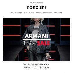 [Forzieri] The Armani SALE | Up to 70% Off