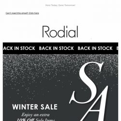 [RODIAL] Sale Restocked | Enjoy An Extra 10% Off ❤️