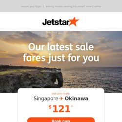 [Jetstar] Okinawa and Bangkok are now on sale!