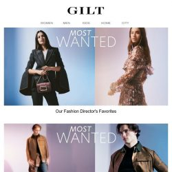 [Gilt] Our fashion director spilled her favorites. (They're good.)