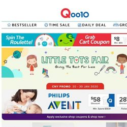 [Qoo10] Philips Avent and 1010 exclusive shop promotion! Enjoy huge discounts on Steam Sterilizer, Pigeon Wet Wipes & more!!