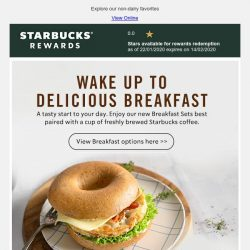 [Starbucks] Have a tasty start to your day ☀️