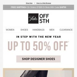 [Saks OFF 5th] Up to 50% OFF Golden Goose Deluxe Brand & more