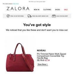 [Zalora] You took a look. Why not make it yours?