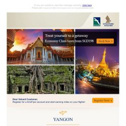 [Singapore Airlines] From SGD198, book your next getaway to exciting destinations