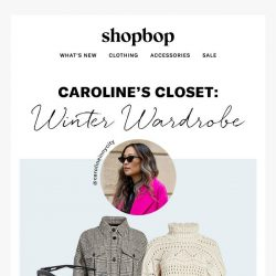 [Shopbop] How our fashion director stays warm in style