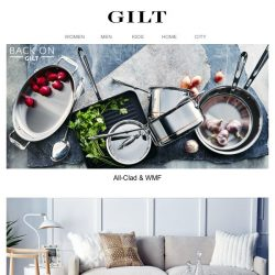 [Gilt] All-Clad & WMF are back. Give them a warm welcome.