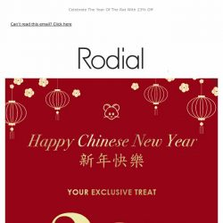 [RODIAL]  🎊 Happy Chinese New Year 🎊