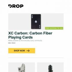 [Massdrop] XC Carbon: Carbon Fiber Playing Cards, NexTool MoTool 9-in-1 Multi-Tool, Klarus 360X1 1,800-Lumen Rechargeable Flashlight and more...