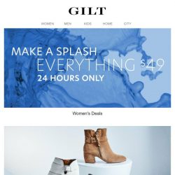 [Gilt] Everything $49 for 24 Hours Only | Black, White & Neutral Shoes