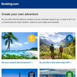 [Booking.com] Pick your next adventure with Booking.com