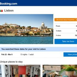 [Booking.com] Deals in Lisbon from S$ 21