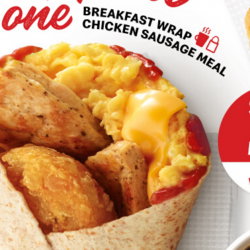 McDonald's: Enjoy the Breakfast Wrap Chicken Sausage Meal at just $5 on Weekdays!