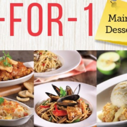 Swensen's: Enjoy 1-for-1 Mains/Desserts on Weekdays from 2.30pm to 4.30pm!