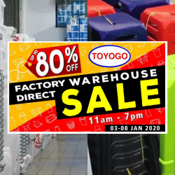 Toyogo: Warehouse Sale 2020 with Up to 80% OFF Homeware, Storage Boxes, Cabinets & Dining Ware!