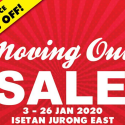 Isetan Jurong East: Moving Out Final Clearance Sale with Up to 80% OFF!