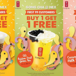 Gong Cha: NEX Outlet Opening Promotion with Buy 1 Get 1 FREE for 1st 99 Customers!