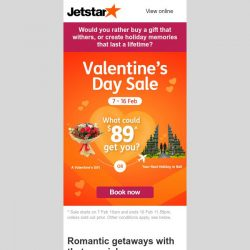 [Jetstar] 💘 Valentine's Day Sale now on! ✈ Bali, Da Nang and more. Book and fly!