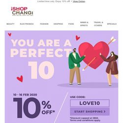 [iShopChangi] Found: Perfect match for your Valentine's! 💘