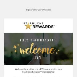 [Starbucks] Welcome to a world of Rewards