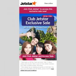 [Jetstar] ✈ You'd love to access this exclusive 3-day Sale! Here's how...