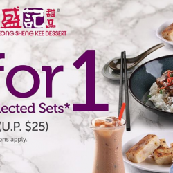 Hong Kong Sheng Kee Dessert: Flash to Redeem 1-for-1 Selected Sets from $10.50 (UP $25)!