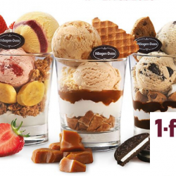 Häagen-Dazs: Enjoy 1-for-1 Parfait with 3 Choices of Flavours!