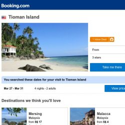 [Booking.com] Deals in Tioman Island from S$ 20