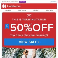 [Hotels.com] We're serious: pay up to HALF less!【FLASH SALE INSIDE】