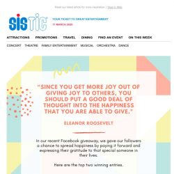 [SISTIC] Here are some inspiring stories on ways to spread happiness. ✨
