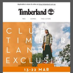 [Timberland] ❗ CLUB TIMBERLAND PREVIEW | UP TO 30% OFF