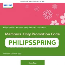 [PHILIPS] [Members' Exclusive] March into Spring with Philips