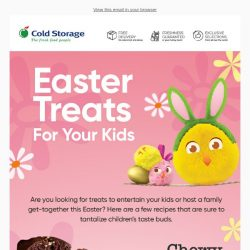 [Cold Storage] Grab Easter Treats For Your Kids! 💝