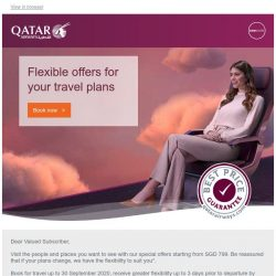 [Qatar] Flexible offers for your travel plans, fares from SGD 799