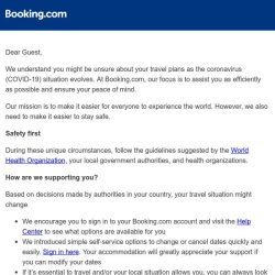[Booking.com] We're committed to safe travels – today, tomorrow, always