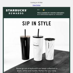 [Starbucks] A new stylish and functional collection for your daily sips