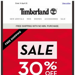 [Timberland] Get your Favourite Timberland for Less.