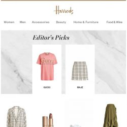 [Harrods] Our top picks of the week