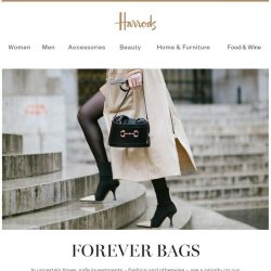 [Harrods] Forever bags to invest in now