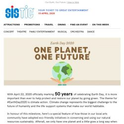 [SISTIC] #EarthDay2020: How local event organisers practise sustainability and go  green