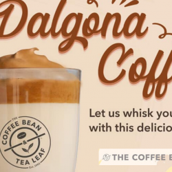 The Coffee Bean & Tea Leaf: Try Their Version of Dalgona Coffee for Takeaway!
