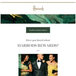 [Harrods] We don't want you to miss out